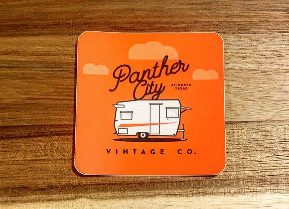 """PantherCityVintageCo. -""""The Fredwadlt"""" Camper Sticker"""