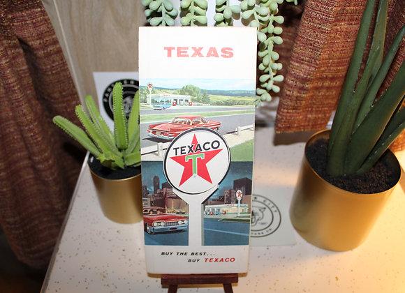 Vintage Texaco Gas Station Map -Texas