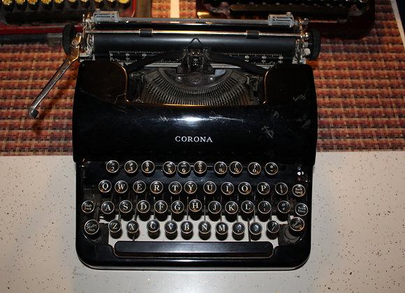 Black Vintage Typewriter-needs type lever repair