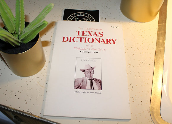 Vintage The Illustrated Texas Dictionary by Bert Brandt