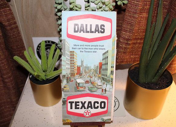 Vintage Texaco Gas Station Map - Dallas