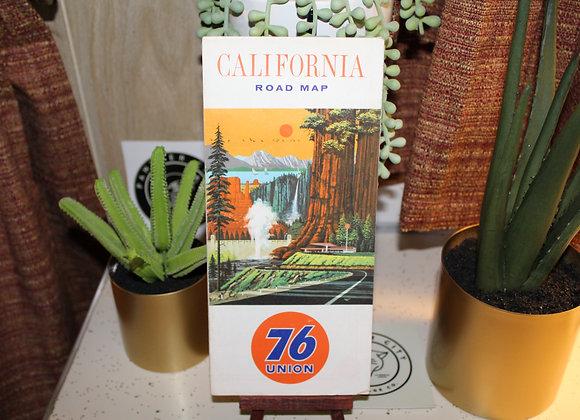 Vintage 76 Union Gas Station Map - California