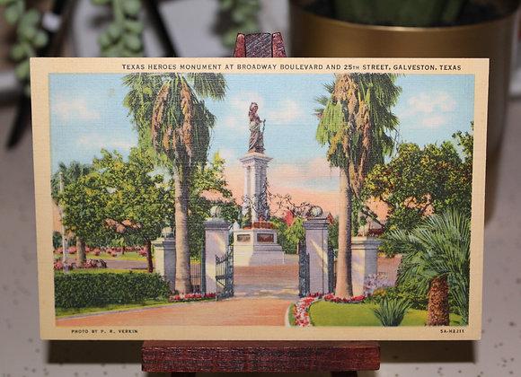 Vintage Galveston Texas Postcard
