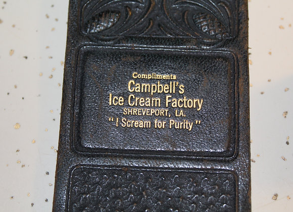 Vintage Campbell's Ice Cream Factory note pad and stamp set