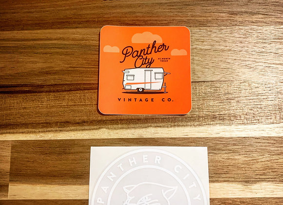 PantherCityVintageCo- Clear Vinyl Sticker Combo