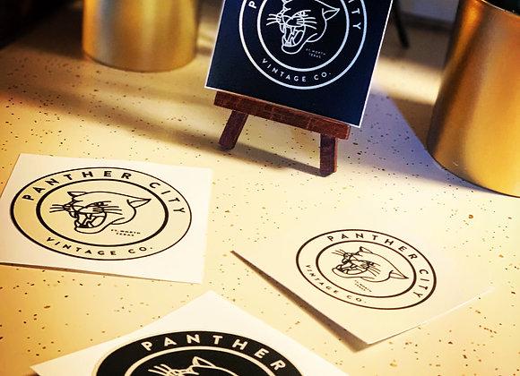 "PantherCityVintageCo. 3.5"" x 3.5"" custom durable vinyl stickers"