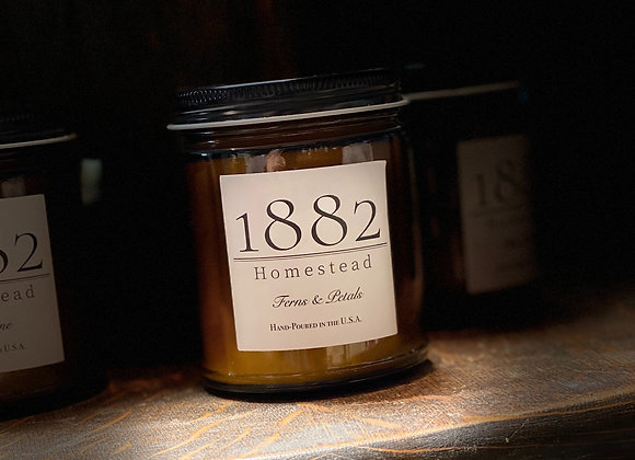 1882 Homestead Hand Poured Soy Candle - Ferns & Petals