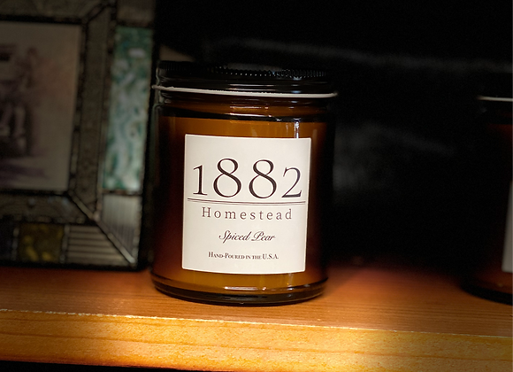1882 Homestead Hand Poured Soy Candle - Spiced Pear