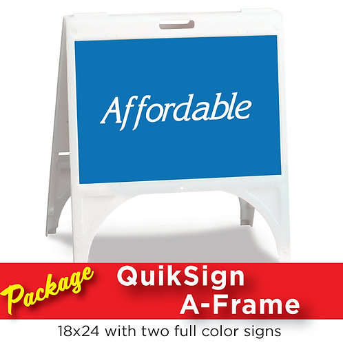 Quiksign White A-Frame