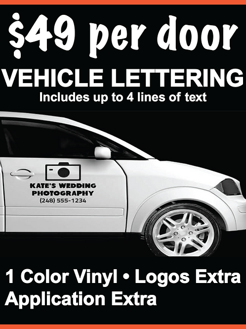 Vehicle Door Lettering