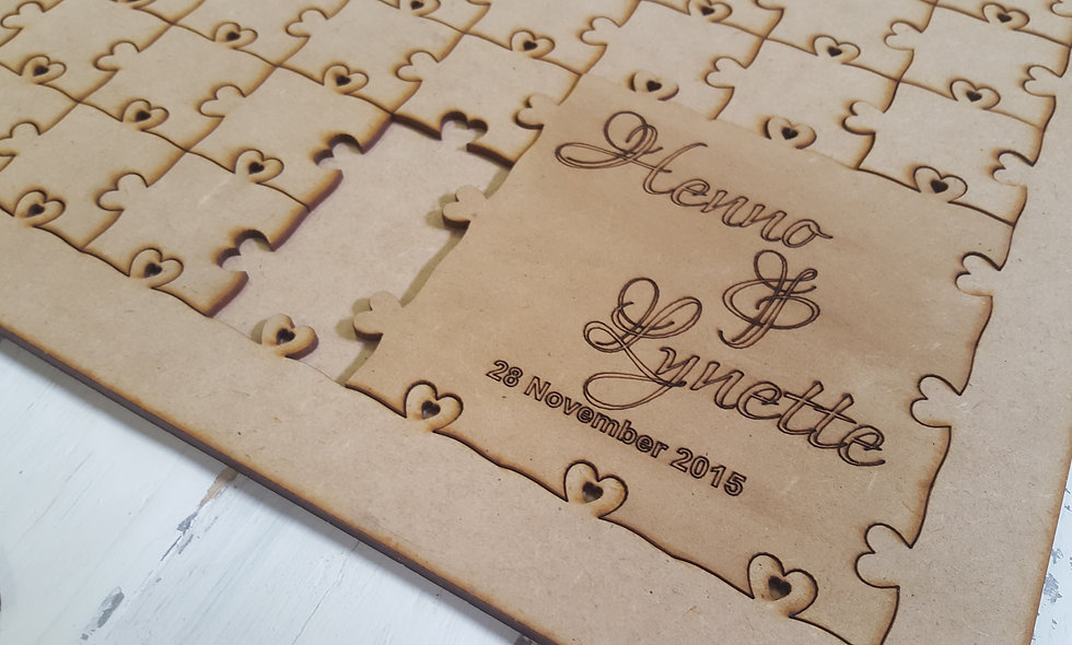 Wedding Puzzle Guest book 85cm