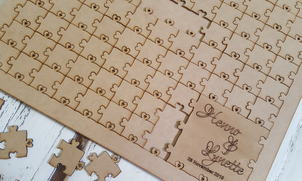 Wedding Puzzle Guest book 60cm
