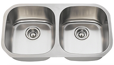 Stainless Steel Undermount Double Equal Bowl Sink