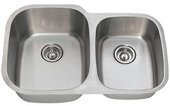 Stainless Steel Undermount 60/40 Double Bowl Sink
