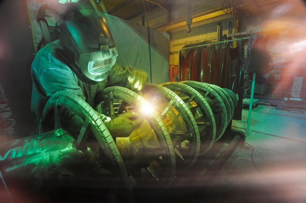 Soudure de précision sur séparatrice industrielle
