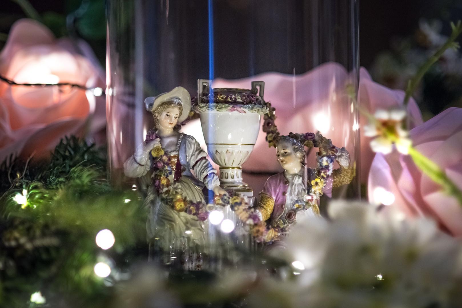 Décorations de Noël (détail) au château de Bouges