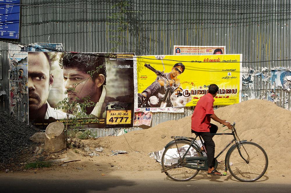 Chennai, quanrtier de Poes Garden © Thierry Vincent