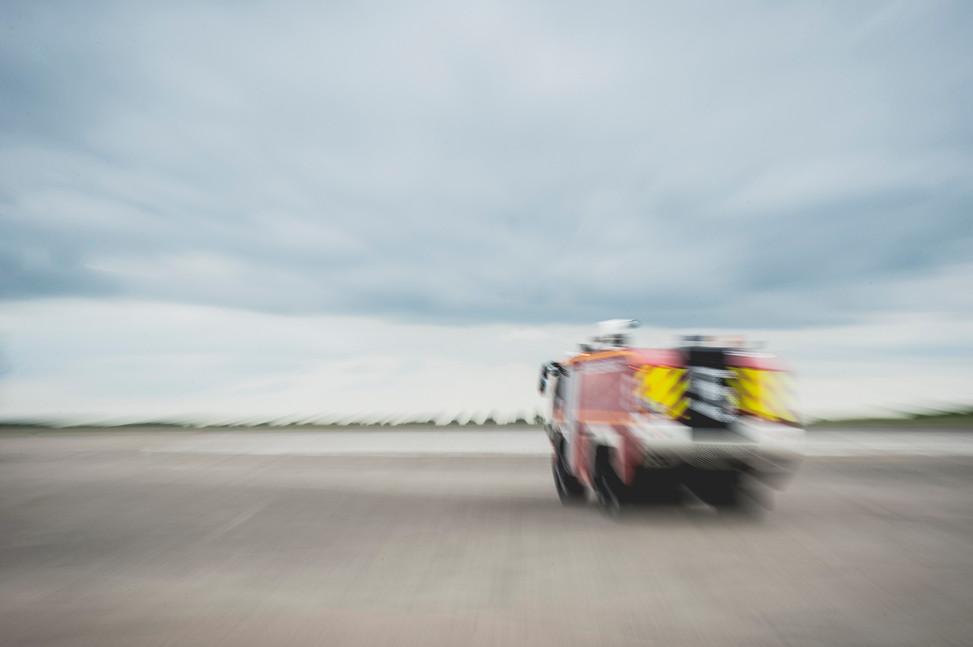 Métier : pompier d'aéroport