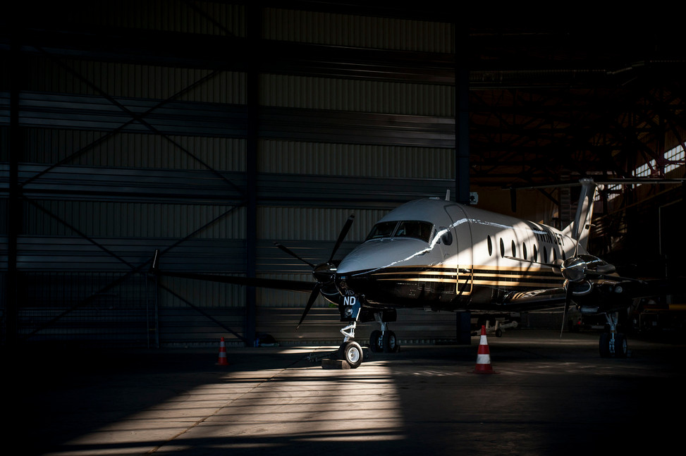 Turbo propulseur au hangar