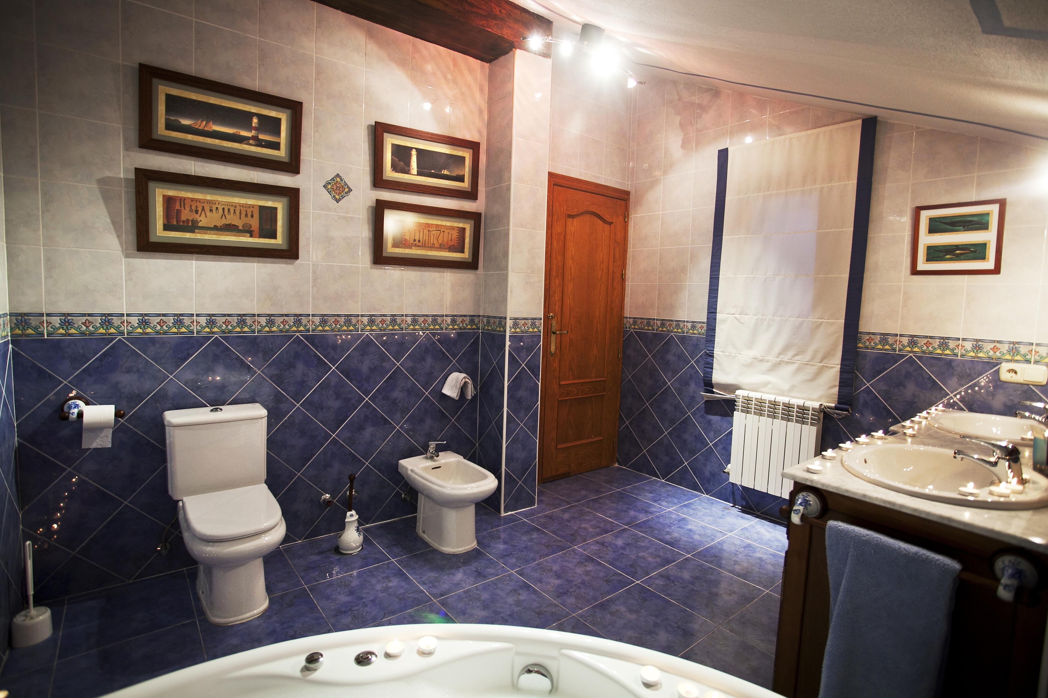 Baño Suite en casa rural en toledo