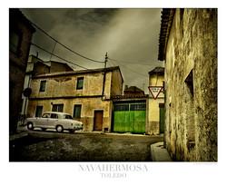 Calles del pueblo casa rural en tole