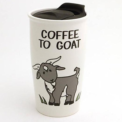 Coffee to Goat Travel Mug