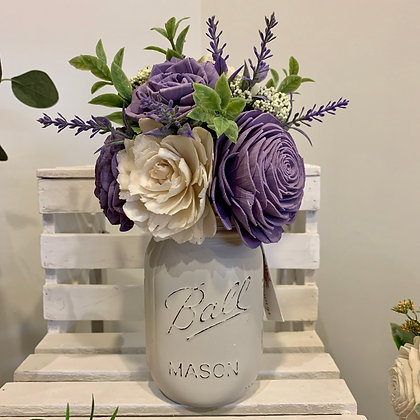 Lavender Mason Jar Arrangement (5041)