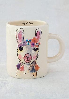 Llama Emossed Mug