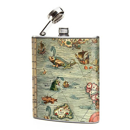 Sea Monster Hip Flask
