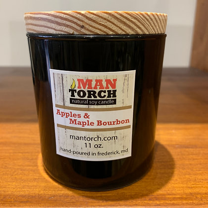 Man Torch Candle: Apples & Maple Bourbon