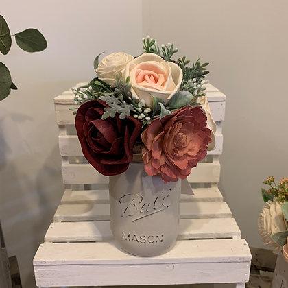 Pink Mason Jar Arrangement