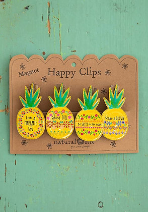 Pineapple Magnet Happy Clips