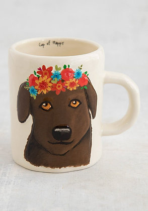 Chocolate Lab Embossed Mug