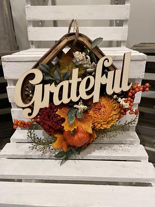"Fall ""Grateful"" Hanging arrangement"