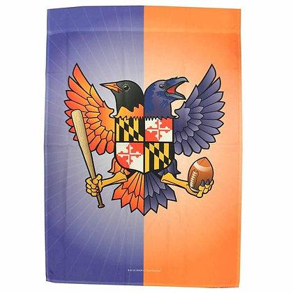 Birdland Shield Garden Flag