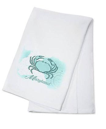 Maryland Crab Coastal Tea Towel
