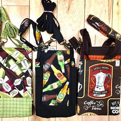 Wine, Ale or Coffee Crossbody Purses