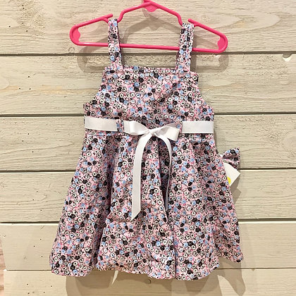 Girls Sundress Pink/White, Blue Black Floral