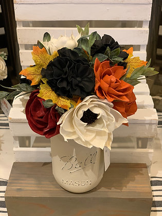 Fall Orange/Red/Black Arrangement