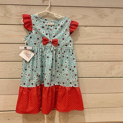 """Girl's """"Lady Bug"""" Sundress - Size 5/6"""