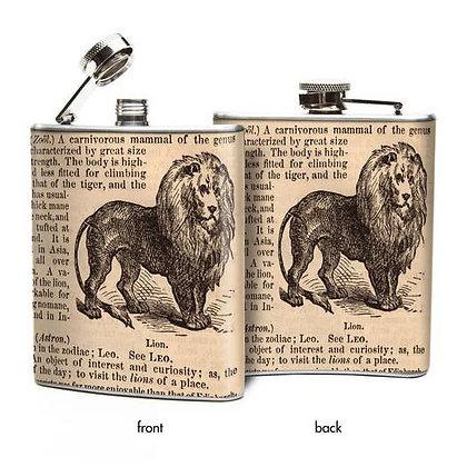 Lion Hip Flask