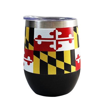 Maryland Flag Wine Tumbler