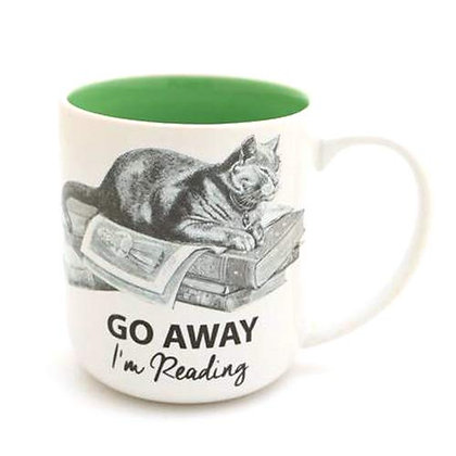Cat Go Away I'm Reading Mug