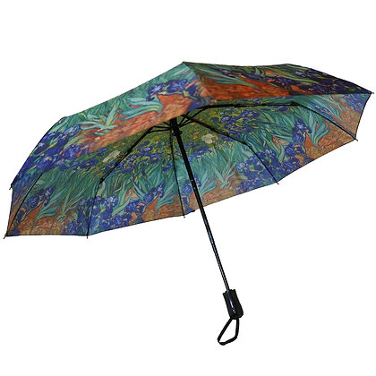 Van Gogh Blue Irises Mini Umbrella
