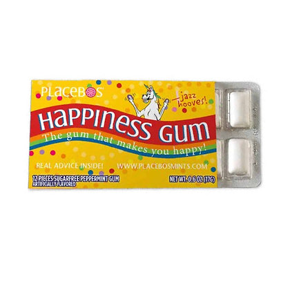 Placebos Happiness Gum:  The gum that makes you happy!