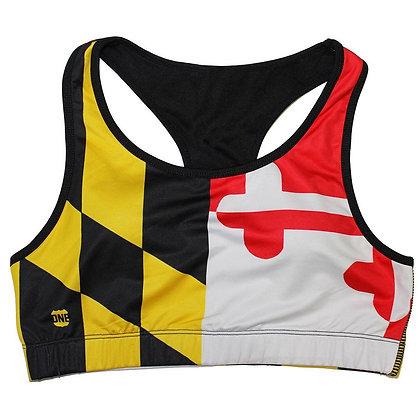 Maryland Flag Sports Bra