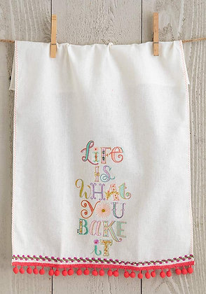 Linen Towel - Life is What You Bake It