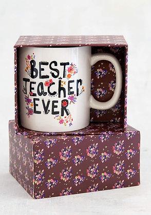 Best Teacher Ever Box Mug