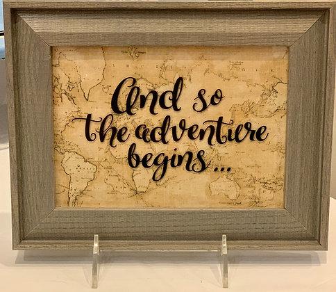 So the Adventure Begins (framed)