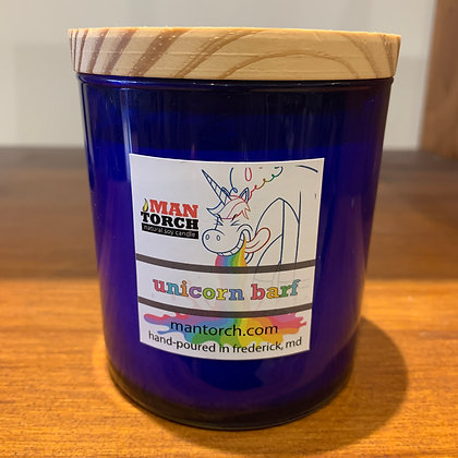 Man Torch Candle: Unicorn Barf